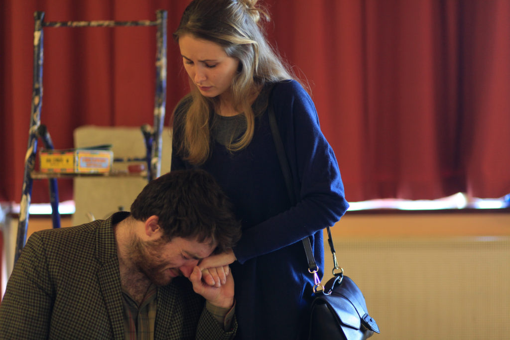 Even in intimate moments every word from Simon Donohue and Alison Latham must be heard